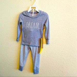 "Rae Dunn toddler 2t pajamas  ""dream"""